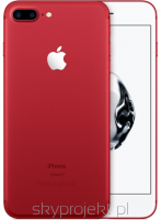 "Sprawdź !! Apple iPhone 7 Plus 128GB RED + Szkło hartowane, Etui 5.5"" Retina HD, 12MP, A10 M10, FV23%"